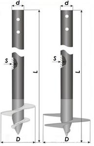 Чертёж: свая с литым наконечником для строительства фундаментов в талых и с сезонным промерзанием грунтах